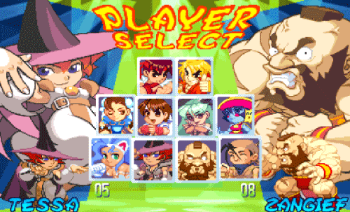 pocket-fighter-select-screen-dojan-jogoveio