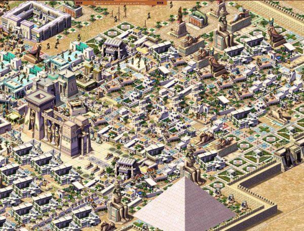 Os prédios brancos costumam ser os mais evoluídos em Pharaoh