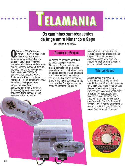 Surge a revista GamePower, publicação dedica à Nintendo Nintendo-x-sega-materia