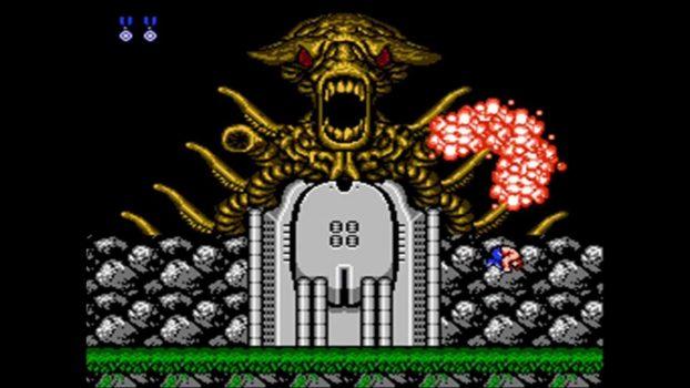 Contra - Ação cooperativa, alienígenas bizarros e heróis bombados no Nintendo 8 bits. Contra-alien-622x350