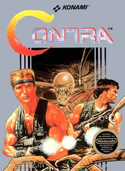 Contra - Ação cooperativa, alienígenas bizarros e heróis bombados no Nintendo 8 bits. Contra-capa-do-jogo-jogoveio-255x350