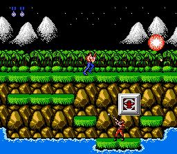 Contra - Ação cooperativa, alienígenas bizarros e heróis bombados no Nintendo 8 bits. Contra-fase1-jogoveio