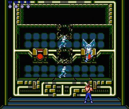 Contra - Ação cooperativa, alienígenas bizarros e heróis bombados no Nintendo 8 bits. Contra-fase4-jogoveio-416x350