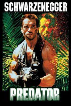 Contra - Ação cooperativa, alienígenas bizarros e heróis bombados no Nintendo 8 bits. Schwarzenegger-predador-jogoveio-233x350