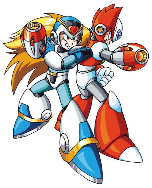 O jogo traz belíssimas artworks de Mega Man, Zero e companhia