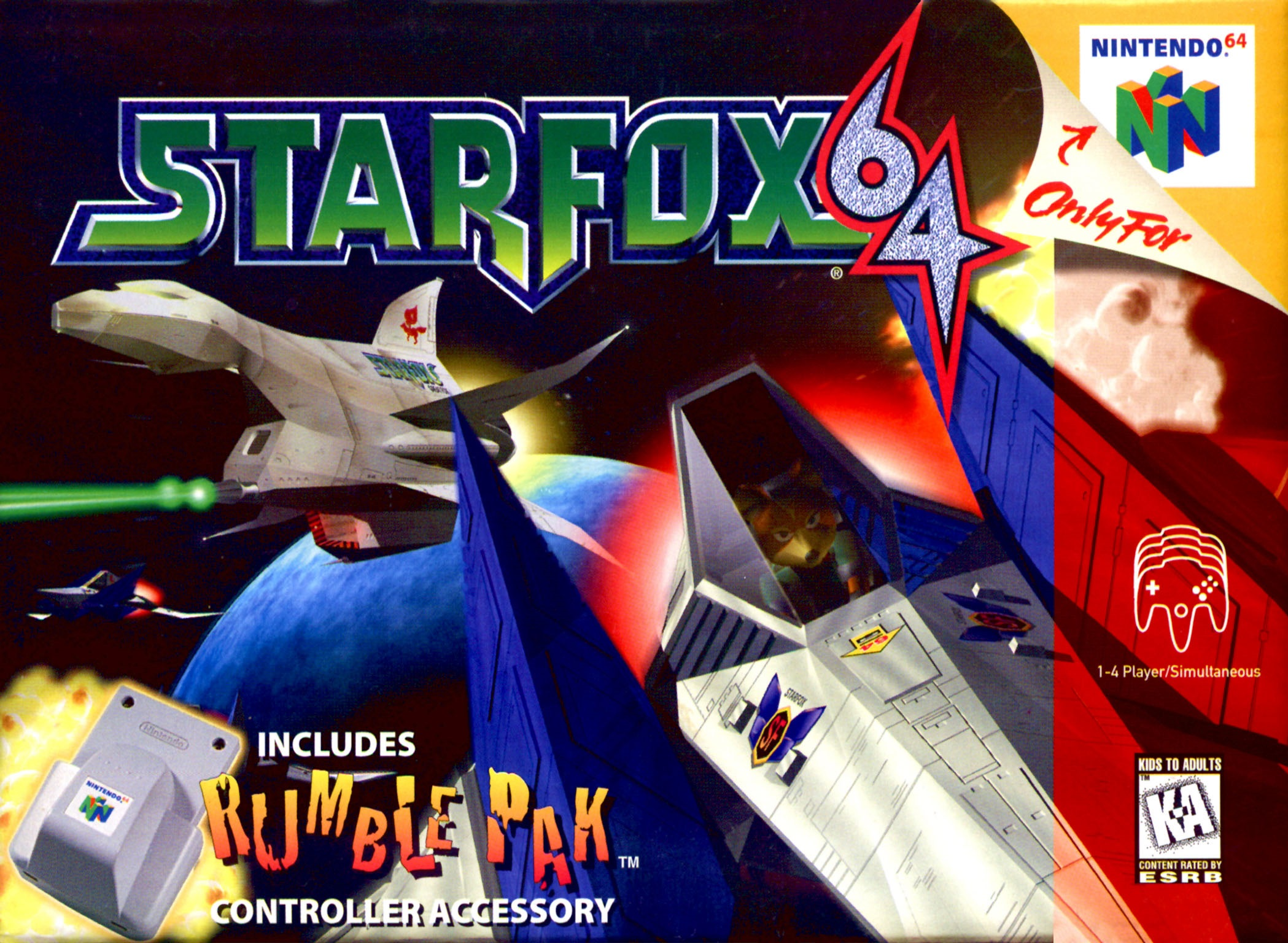 star fox n64 cover game